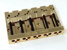 Gold OMEGA High Mass Badass V Style 5-string Bass Guitar Bridge BB-3360-002