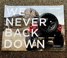 """Toyo Tires Poster """"We Never Back Down"""" Jeep 24""""x18"""" Mud Tire Motivation"""
