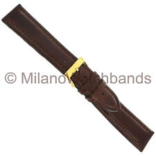 20mm Morellato Brown Genuine Leather Padded Stitched Watch Band Strap 1419