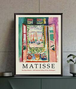 Henri Matisse Exhibition Poster, Open Window, Wall Art Decor Print, Gift Idea