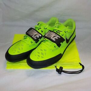 Nike Zoom RIVAL SD 2 Shotput Discus Throw GREEN BLACK 685134 300 MEN SIZE 10.5