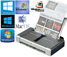 Portatile Stampante Canon Pixma IP100 USB Aliment + Batt Per Windows 2000 XP 7 8