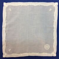 Ladies Cotton, Hand Embroidered Initialed Handkerchiefs 15 Letters Available NWT