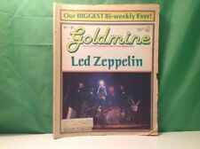 Goldmine August 24, 1990 issue featuring Led Zeppelin