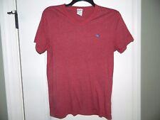 Men's Abercrombie Red Burgundy T-Shirt Size Medium