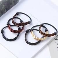 Fashion Black Braid Elastic Hair Band Rope Scrunchie Ponytail Holder @cc