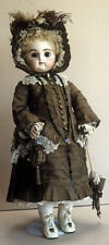 """Antique Wardrobe Costume 21"""" Pan French Doll Dress Jacket Boots Hat Pattern"""