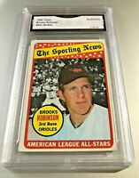BROOKS ROBINSON ALL STAR (HOF) 1969 Topps #421 GMA Graded Authentic
