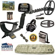 Garrett AT Gold Nugget Metal Detector with Camo Detector Bag, Headphones + More