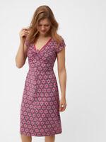 New WHITE STUFF Ladies Cotton Pink Printed Rita Dress 6 8 10 12 14 16 18 RRP £55