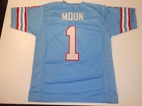 UNSIGNED CUSTOM Sewn Stitched Warren Moon Blue Jersey - M, L, XL, 2XL