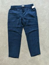 NWT Gap Maternity Tencel Ankle Pants Trousers Joggers Navy Blue S