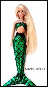 New barbie doll clothes princess mermaid Ariel 2 piece outfit Disney