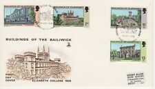 GB Stamps First Day Cover Guernsey Xmas & Buildings, architecture, college 1976