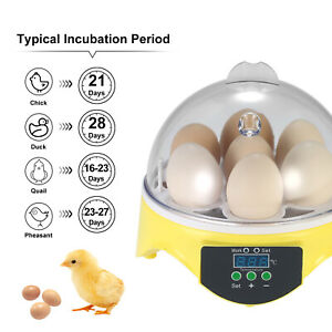 Egg Incubator Automatic Digital 7 Chicken Duck Temperature Control Incubators UK