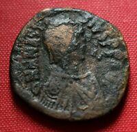 Byzantine Coin 517AD Follis Anastasius Constantinopolis Genuine