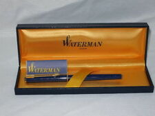WATERMAN EXECUTIVE SOLID  BLUE  FOUNTAIN PEN 18K GOLD FINE  PT  NEW IN BOX
