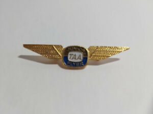 Vintage TAA Junior Flyer Metal Wings Badge Pin Australian Aviation Collectible