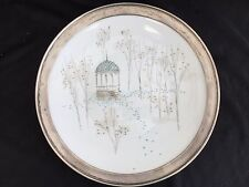 """ROSENTHAL SELB GERMANY RENDEZVOUS STERLING RIM 12"""" LARGE SERVING CHOP  PLATE"""