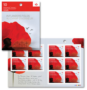 Canada 2836a BK620 In Flanders Fields 'P' booklet (10 stamps) MNH 2015