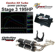 CanAm X3 pwrTune ECU Reflash & Trinity Black Exhaust Stage 3 Package 195hp Tune