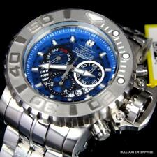 Invicta Sea Hunter Gen II 70mm Stainless Steel Chronograph Blue Swiss Watch New