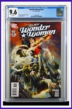 Wonder Woman #612 CGC Graded 9.6 DC August 2011 White Pages Comic Book.