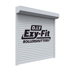 EzyFit DIY Fortress Roller Shutters Motorised Electric Commercial Grade Steel