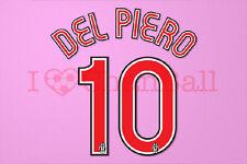 Del Piero #10 2007-2008 Juventus Homekit Nameset Printing