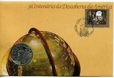 Cubierta de moneda 1992 descubrimiento de América, Portugal 200 escudos moneda