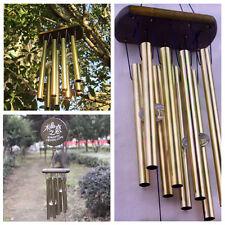 Neu Windspiel Klangspiel 8 Klangröhren Feng Shui Windharfe Haus Garten Deko