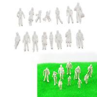 100 Pcs/set Scale 1:75 White Models People Unpainted Landscapes Models DIY RDR