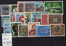 Italie République 1963 Année Complète 19 V MNH