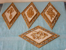 Vintage Dart Industries Set of 4 Gold Wall Home Decor