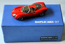 ALFA ROMEO TIPO 33-2 STRADALE COUPE 1967 street rosso red 1:43 Replicars 104