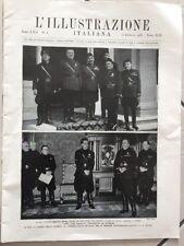 RIVISTA STORICA L'ILLUSTRAZIONE ITALIANA LA FESTA DEL VINO ROMA 1935 GIORNALE
