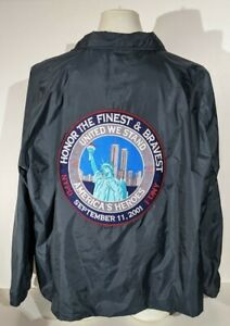 NYPD September 11th, 2001 Honor The Finest And Bravest Patched Jacket Sz 4XL