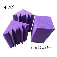 New 4 pcs 12 x 12 x 24 cm Acoustic Bass Traps Sound Absorption Foam Treatment