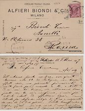# MILANO: testatina ALFIERI BIONDI & C.  - Via Venezia      1917