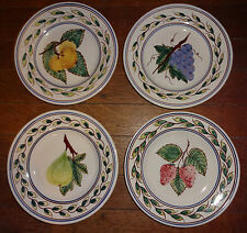 Azulcer Portual Hand Painted Pottery Fruit Plates Strawberry Fig+ 4 Salad Plates