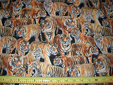 TIGERS FABRIC BY THE 1/2 YARD NEW FROM FABRI-QUILT