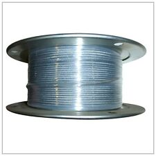 "1/8-3/16""  X 500' Vinyl Coated Aircraft Cable 7X7 Control Wire Rope Galvanized"