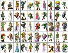 50 DIFFERENT LEGEND OF ZELDA LINK STICKERS 8x10 SHEET