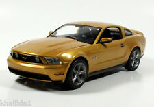 Greenlight 2010 Ford Mustang GT Sunset Gold Metal Diecast Model Car 1:18 12870