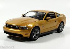 Greenlight 2010 Ford Mustang GT Sunset Gold Metal Diecast Model Car 1:18 12870