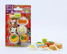 Japanese Iwako Puzzle Eraser Chinese Food DimSum Dumplings Buns Gift Card Set