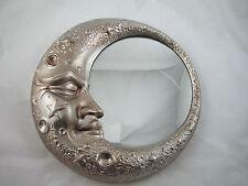 Moonlight Wall Mirror in Antique Silver 32 Diameter New Luna Very Subtle Pieces