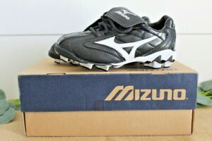 New Mizuno 9 Spike Franchise Low G4 320280 Baseball Cleats Youth 4 Black/White