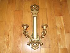 New listing Vtg. 1969 Homco~Dart~Syroco Hollywood Regency Double Arm Wall Sconce #4081 Euc