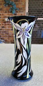 """Lovely MOORCROFT   """" Orchid """"  Vase   25.5cm or 10 inches High"""